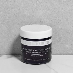 RAW COCONUT&ACTIVATED CHARCOAL TOOTH WHITENING POLISH